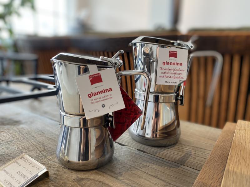 好評の直火式コーヒーメーカーgiannini再入荷‼